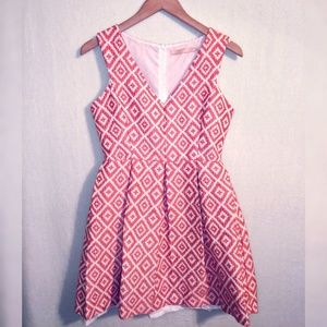HUTCH Anthropologie Pleated Dress Sz 8